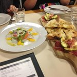 Antipasto and Salmon tartare