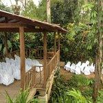 Creek side wedding