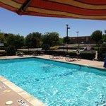 Nice pool area. 6 feet deep