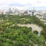 amazing view of lumpini park from the rooftop