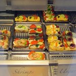 open sandwich display