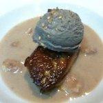 foie gras marron sésame noir