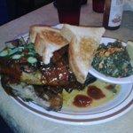 1/4 BBQ Chicken & Greens