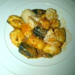 Potato Gnocchi with seafood and light tomato sauce
