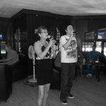 Dianne and Brett leading the Karaokee