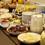 Some of the Lauriston's breakfast selection