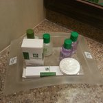 toiletries at standard double room