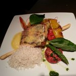 grilled salmon with vegetables J