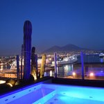 stunning view over Naples bay from rooftop swimming pool