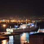 stunning view over Naples bay and port from rooftop swimming pool