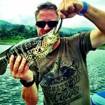 Rainbow Bass caught on Captain Ron's Lake Arenal Fishing Trip!