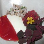 Rhubarb and brown cheese