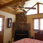 the wonderful fireplace