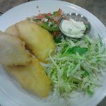 Tilapia with a very fresh salad...