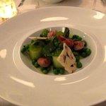 前菜 アスパラの豆のサラダ