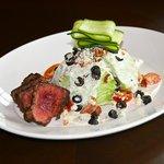 Lunch Wedge Salad with Tenderloin