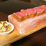 Hawaiian Ahi Tuna on Himalayan Salt Block