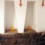 Inca wall in bedroom