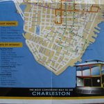 Lower half of front of trolley map