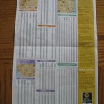 Back of trolley map with time schedule