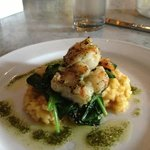 knock you out grilled shrimp with butternut squash risotto