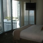 1 BR suite bedroom with floor to ceiling windows