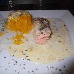 pavè de saumon et riz