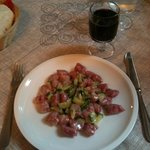 gnocchetti di rape rosse con zucchine e gorgonzola