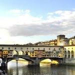 The famous bridge. Ponte Vecchio.