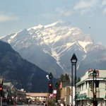 Mountain overlooking Banff