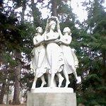 Three graces in garden