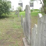 A row of grave markers
