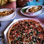 Delicious PIZZA and Broiled Scallops !!!