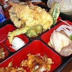 Tempura, Chicken Teriyaki, Sashimi Dinner Combo