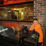 Reese loved all of the props and he was able to watch them cook our steaks.