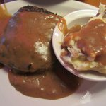 Melissa's Roadkill Chopped Steak 10OZ smothered with brown gravy