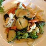 pasta primavera only $6.95 with soup and bread