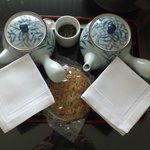 Green tea and Sembei