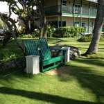 Adirondack chairs to relax on property