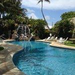 Beautiful pool area right off the beach