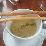 Green olive soup