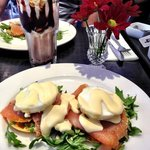 smoked salmon and poached eggs