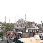 Terrace offers views of sights such as the Blue Mosque
