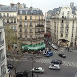 balcony view onto Rue St Germain