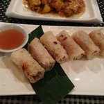 entree- rice paper mini rolls