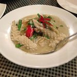 main meal- squid green curry