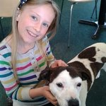 Mollie the dog with our daughter