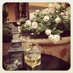 hvidvin i gårdhaven
