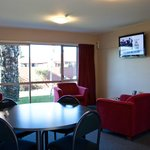 Unit 5 dining/lounge- all units have 40' LED TV's
