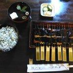 豆腐の味噌田楽と菜めし